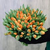 """Букет """"101 оранжевый тюльпан"""" с доставкой"""