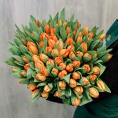 """Букет """"101 оранжевый тюльпан"""" заказать"""