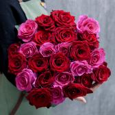 Букет из 25 роз яркий микс (Эквадор) купить