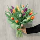 25 тюльпанов микс заказать