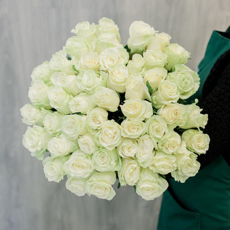 """Букет """"51 белая роза"""" с доставкой"""