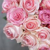 Букет из 25 розовых роз (Эквадор) заказать