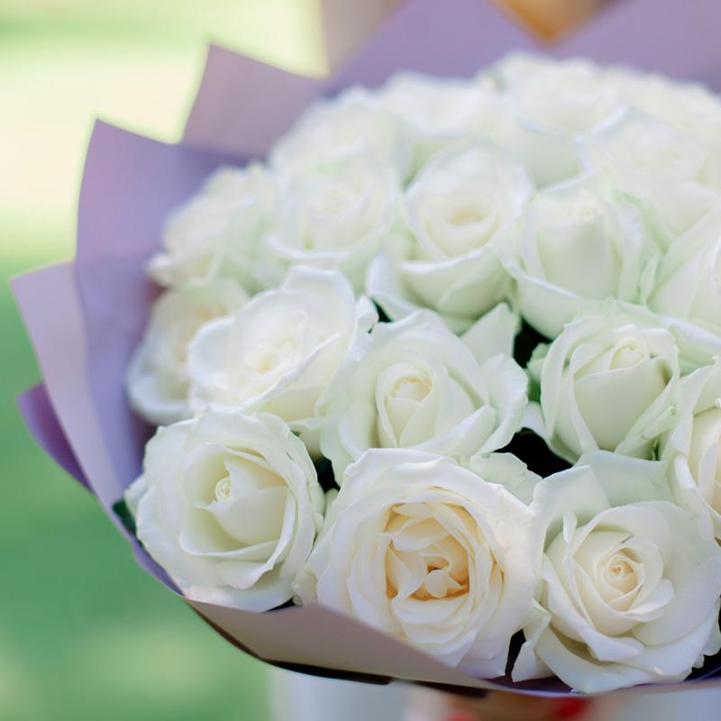 """Букет """"25 белых роз"""" (Россия) с доставкой"""