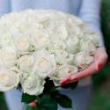 Букет из 51 белой розы (Россия) 60см