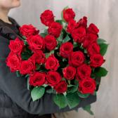 Букет из 25 красных роз (Россия) 70см