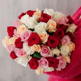 Букет из 51 розы микс (Россия)