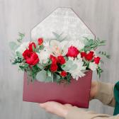 Конвертик с орхидеей и хризантемой с доставкой