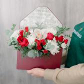 Конвертик с орхидеей и хризантемой заказать