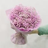 Букет из розовой гипсофилы купить