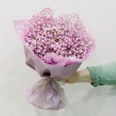 Букет из розовой гипсофилы заказать
