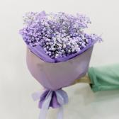 Букет из фиолетовой гипсофилы заказать