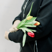 3 тюльпана (яркий микс) купить