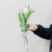 3 тюльпана (нежный микс) с доставкой