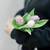 3 тюльпана (нежный микс) купить