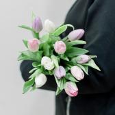 11 тюльпанов (нежный микс) купить