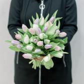 25 тюльпанов (нежный микс) заказать