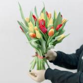 25 тюльпанов (яркий микс) с доставкой