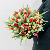 101 тюльпан (яркий микс) заказать
