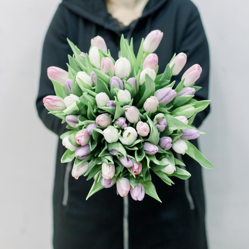 51 тюльпан (нежный микс) с доставкой