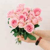 Букет из 15 розовых роз (Кения) купить