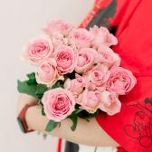 Букет из 15 розовых роз (Кения) заказать