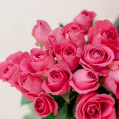 Букет из 15 малиновых роз (Кения) заказать