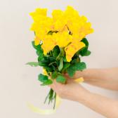 Букет из 15 желтых роз (Кения) купить