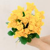 Букет из 15 желтых роз (Кения)