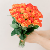 Букет из 15 оранжевых роз (Кения) купить