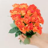 Букет из 15 оранжевых роз (Кения)