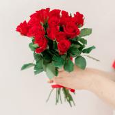 Букет из 15 красных роз (Кения) купить