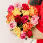Букет из 15 роз микс (Кения) заказать