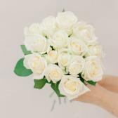 Букет из 15 белых роз (Россия) с доставкой