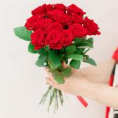 Букет из 15 красных роз (Россия) купить