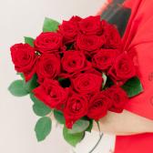 Букет из 15 красных роз (Россия) заказать