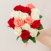 Букет из 15 роз микс (Россия)