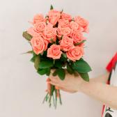 Букет из 15 розовых роз (Россия) купить