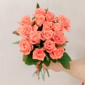 Букет из 15 розовых роз (Россия)