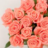 Букет из 15 розовых роз (Россия) заказать