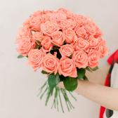 Букет из 35 розовых роз (Россия) купить