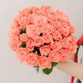 Букет из 35 розовых роз (Россия)