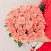 Букет из 35 розовых роз (Россия) заказать