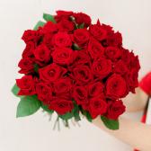 Букет из 35 красных роз (Россия) с доставкой