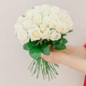Букет из 35 белых роз (Россия) купить