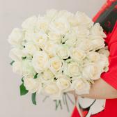 Букет из 35 белых роз (Россия) заказать