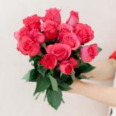 Букет из 15 малиновых роз (Эквадор) купить