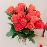 Букет из 15 оранжевых роз (Эквадор) с доставкой