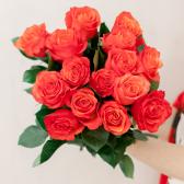 Букет из 15 оранжевых роз (Эквадор) купить