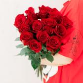 Букет из 15 красных роз 70 см (Эквадор) заказать