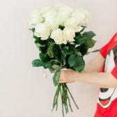 Букет из 15 белых роз 70 см (Эквадор) купить